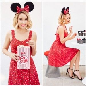 LC Lauren Conrad Minnie Mouse Retro Pinup Dress 8